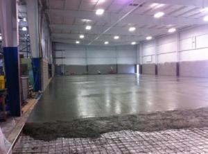 New floor being poured at Blankenbaker