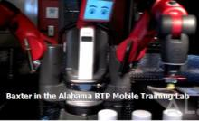 Baxter in the Alabama RTP Mobile Training Lab